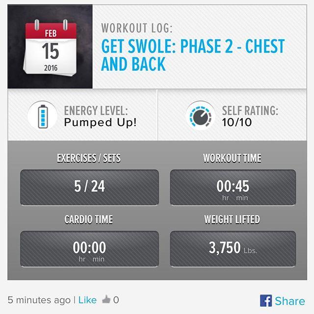 Week 6: Day 1 Workout Done!  #250kchallenge #bodybuildingcom #dymatize #bodybuilding #fitness #lifestyle #motivation #nopainnogain #workout #inspiration #longhardroad #oldman #roadtofitness #musclemotivation #bestself #workinprogress #hardworkpaysoff #MuscleTech #comeonbalboa #gymlife #freeyourmindneo #trainharder #nevergiveup #onedayatatime #dontthinkaboutitdoit #fitforlife #fitmotivation #gohard #keepyourheadup #determination