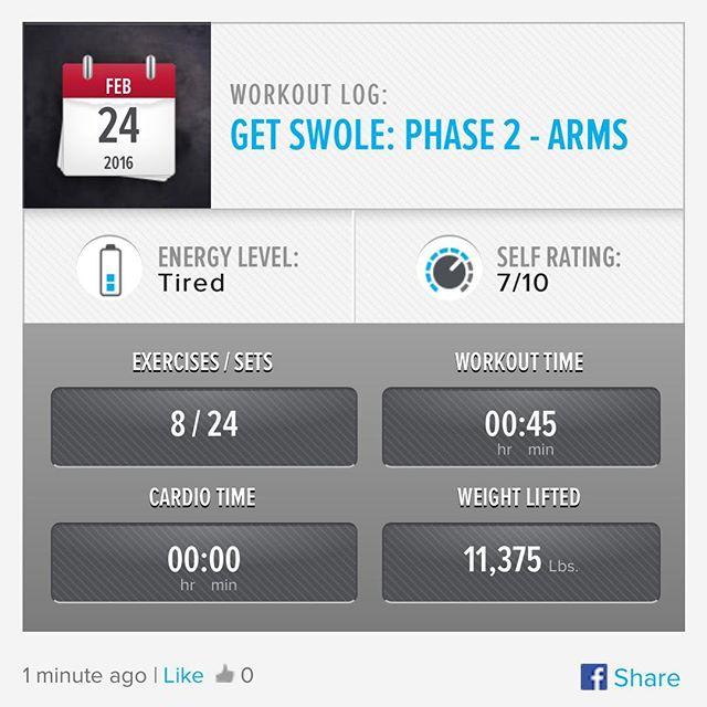 Week 7: Day 3 Workout Done!  #250kchallenge #bodybuildingcom #dymatize #bodybuilding #fitness #lifestyle #motivation #nopainnogain #workout #inspiration #longhardroad #oldman #roadtofitness #musclemotivation #bestself #workinprogress #hardworkpaysoff #MuscleTech #comeonbalboa #gymlife #freeyourmindneo #trainharder #nevergiveup #onedayatatime #dontthinkaboutitdoit #fitforlife #fitmotivation #gohard #keepyourheadup #determination