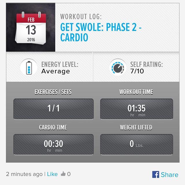 Week 5: Day 6 Workout Done! Added some cardio into the mix!  #250kchallenge #bodybuildingcom #dymatize #bodybuilding #fitness #lifestyle #motivation #nopainnogain #workout #inspiration #longhardroad #oldman #roadtofitness #musclemotivation #bestself #workinprogress #hardworkpaysoff #MuscleTech #comeonbalboa #gymlife #freeyourmindneo #trainharder #nevergiveup #onedayatatime #dontthinkaboutitdoit #fitforlife #fitmotivation #gohard #keepyourheadup #determination