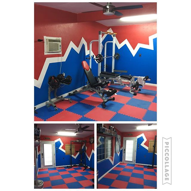 Gym area redo! This was once my office in our garage. It has now been transformed into our gym area!  #250kchallenge #bodybuildingcom #dymatize #bodybuilding #fitness #lifestyle #motivation #nopainnogain #workout #inspiration #longhardroad #oldman #roadtofitness #musclemotivation #bestself #workinprogress #hardworkpaysoff #MuscleTech #comeonbalboa #gymlife #freeyourmindneo #trainharder #nevergiveup #onedayatatime #dontthinkaboutitdoit #fitforlife #fitmotivation #gohard #keepyourheadup #determination