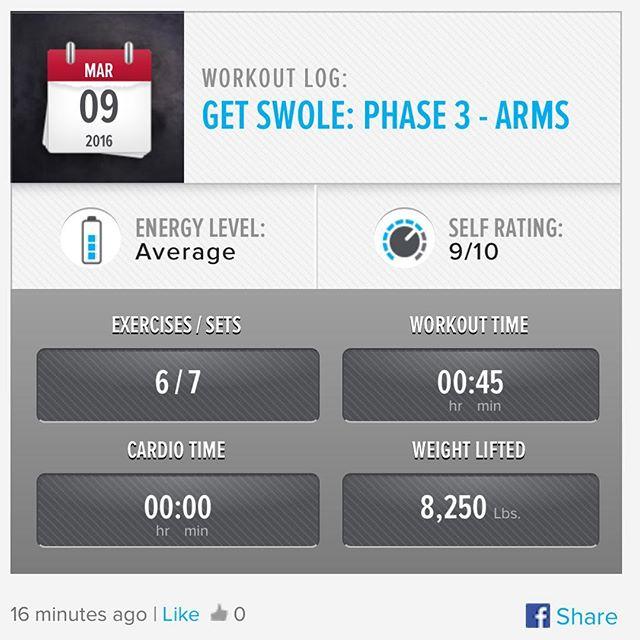 Week 9: Day 3 Workout Done!  #250kchallenge #bodybuildingcom #dymatize #bodybuilding #fitness #lifestyle #motivation #nopainnogain #workout #inspiration #longhardroad #oldman #roadtofitness #musclemotivation #bestself #workinprogress #hardworkpaysoff #MuscleTech #comeonbalboa #gymlife #freeyourmindneo #trainharder #nevergiveup #onedayatatime #dontthinkaboutitdoit #fitforlife #fitmotivation #gohard #keepyourheadup #determination