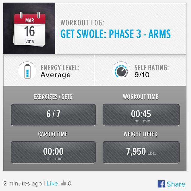 Week 10: Day 3 Workout Done!  #250kchallenge #bodybuildingcom #dymatize #bodybuilding #fitness #lifestyle #motivation #nopainnogain #workout #inspiration #longhardroad #oldman #roadtofitness #musclemotivation #bestself #workinprogress #hardworkpaysoff #MuscleTech #comeonbalboa #gymlife #freeyourmindneo #trainharder #nevergiveup #onedayatatime #dontthinkaboutitdoit #fitforlife #fitmotivation #gohard #keepyourheadup #determination