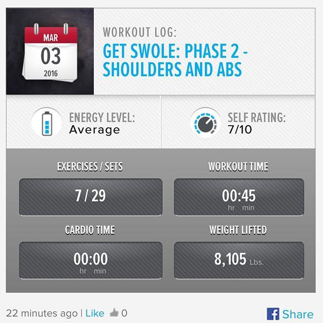 Week 8: Day 4 Workout Done!  #250kchallenge #bodybuildingcom #dymatize #bodybuilding #fitness #lifestyle #motivation #nopainnogain #workout #inspiration #longhardroad #oldman #roadtofitness #musclemotivation #bestself #workinprogress #hardworkpaysoff #MuscleTech #comeonbalboa #gymlife #freeyourmindneo #trainharder #nevergiveup #onedayatatime #dontthinkaboutitdoit #fitforlife #fitmotivation #gohard #keepyourheadup #determination