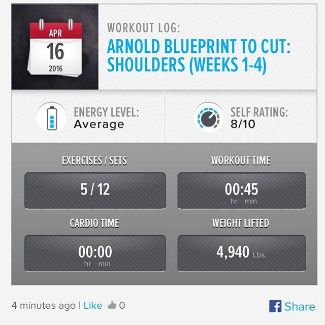 Shoulder Saturday! Week 2 Day 6 Workout Done!