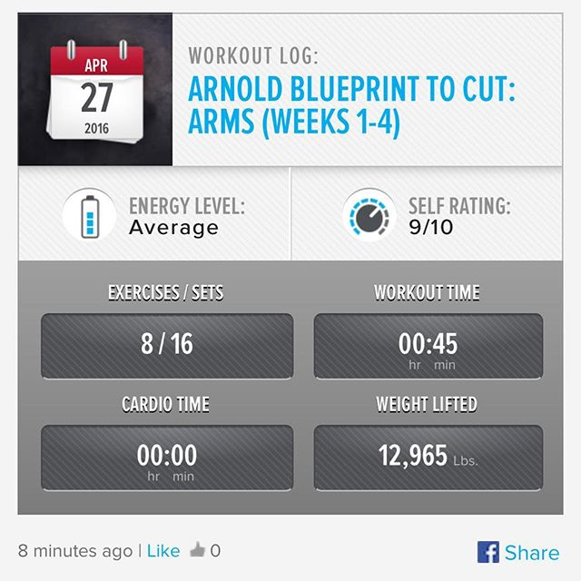 Arm Day Wednesday ! Week 4 Day 3 Workout Done!