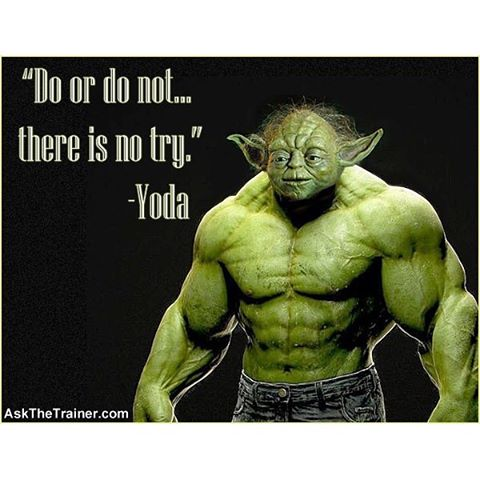 May The 4th Be with you today in your workouts. I was only able to get thru half my work out this morning. One of the problems with switching gears in the workout, is learning all exercises for each workout.  So when I get home from work today, I'll just finish where I left off.