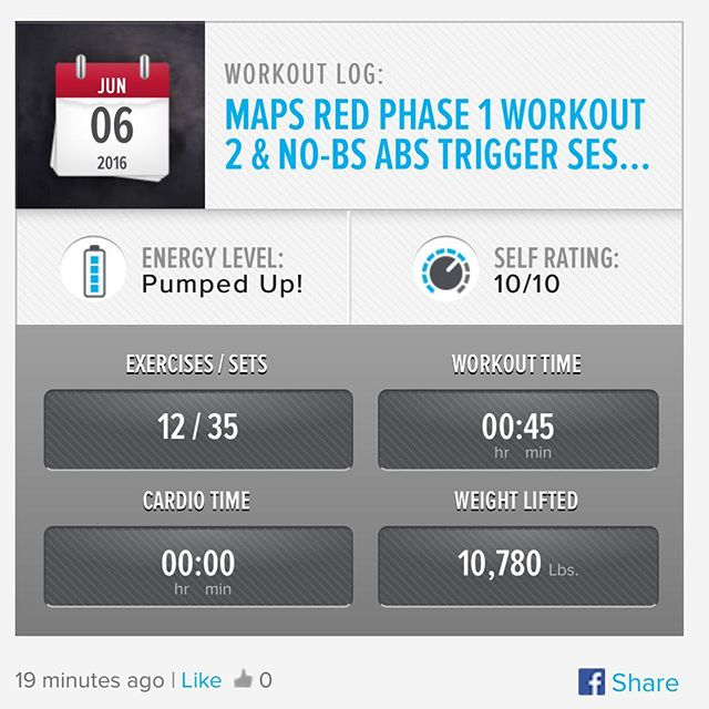 MAPS Anabolic Phase 1 - Workout 2 & NO-BS ABs Trigger Sessions Done! ​ #workinprogress