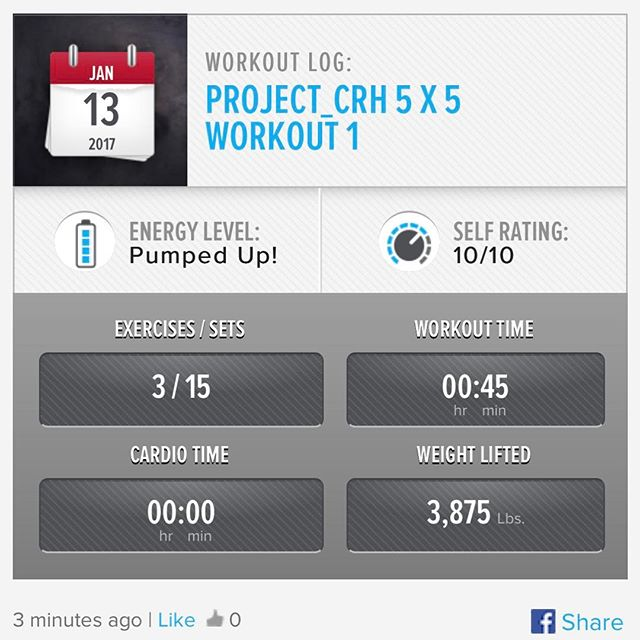 2nd week in… 3rd workout done!
