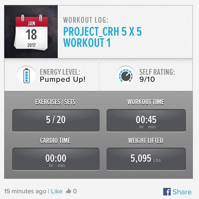 3rd Week In… 3rd workout of the week. 