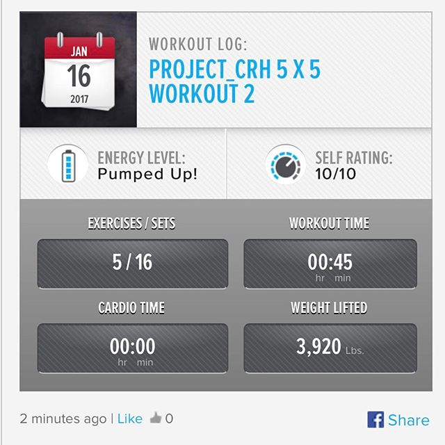 3rd Week In… 1st workout of the week. I added a couple of more exercises into the mix from now on.