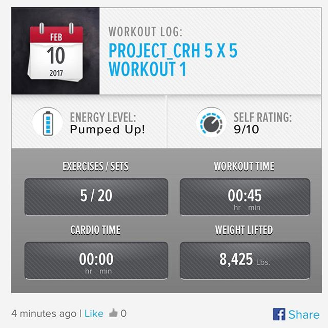 3rd Workout of the Week.