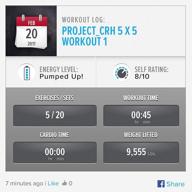 1st workout of the week. #workinprogress