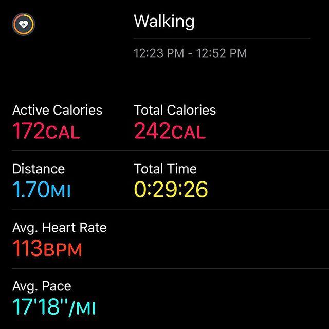 Lunchtime Walking!!! #workinprogress