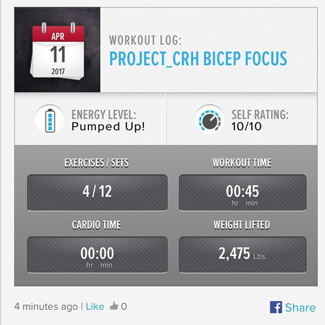 2nd workout of the week. Bicep Focus Session 
