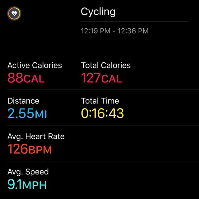 A little lunchtime bike riding.. a little farther and faster than yesterday.