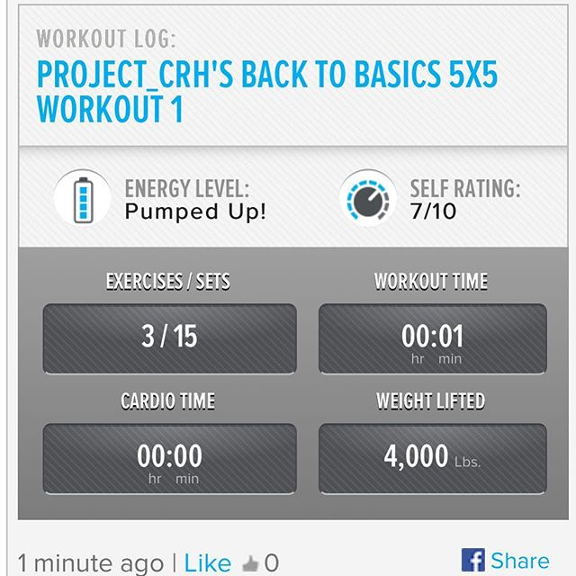 1st workout of the week.  Starting back in the gym slowly. #workinprogress