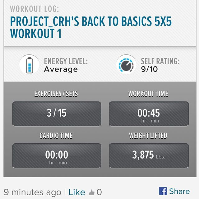 1st workout in awhile.. felt good to get up and get moving! One day at time. #workinprogress