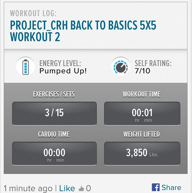 Kicking off my Friday with my 3rd workout of the week! #workinprogress