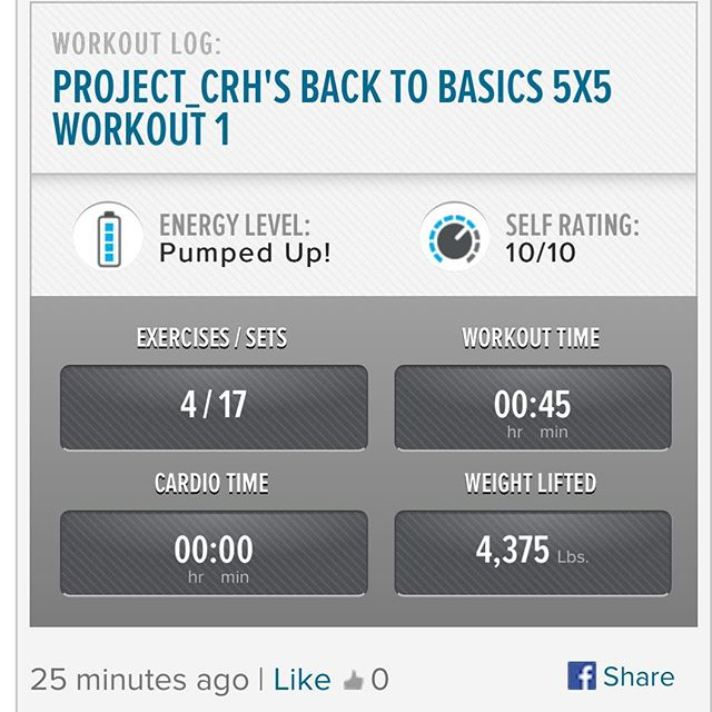 3rd workout of the week.  Starting back in the gym slowly.  #workinprogress