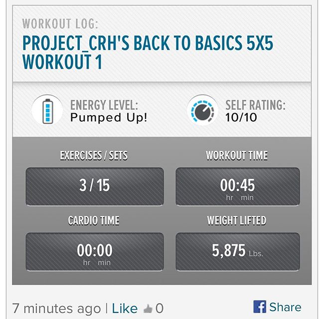 3rd workout of the week, finishing off the week on a good note.