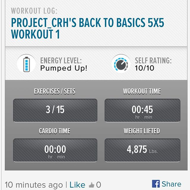 Getting back in the groove... slowly but surely I am making progress! 2nd workout of the week is done.