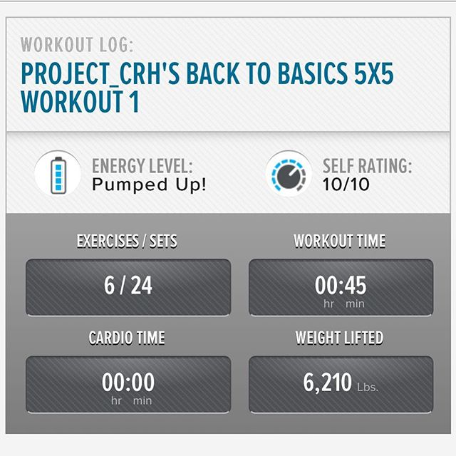 1st workout of the week in the books.  Added some other exercises into the mix this week!