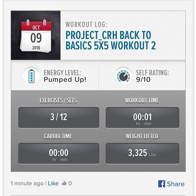 Workout 1 of Week 2 is in the bag!  #workinprogress l