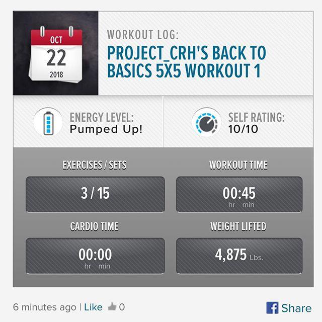 1st workout of the week is done! #workinprogress l