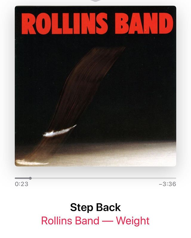 "Sometimes things just work out the perfect way. As I was starting my 1st set of Deadlifts tonight, which happen to be the heaviest ones I've done in awhile. This song came on my iPod. The opening line is just what you need to get going! Nothing like Henry Rollins saying this in your ears ""You're so fuckin' weak, you disgust me! ""  #workinprogress  l"