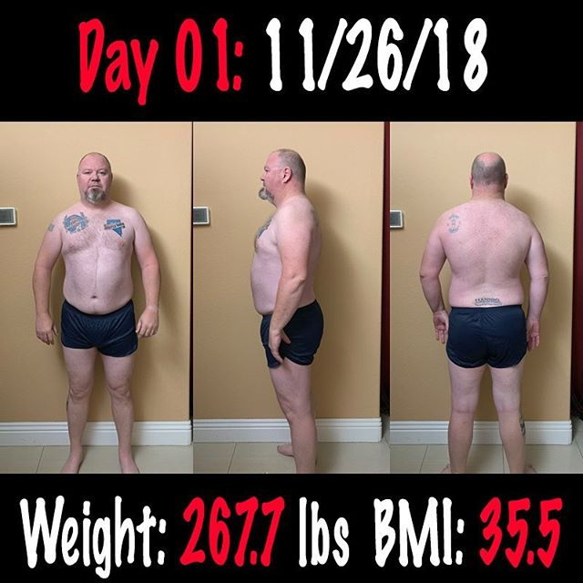 Day 01: Got to Start somewhere. My current weight is 267.7 with a BMI 35.5 according to my Withings scale. This is my baseline. From here it all changes! #workinprogress