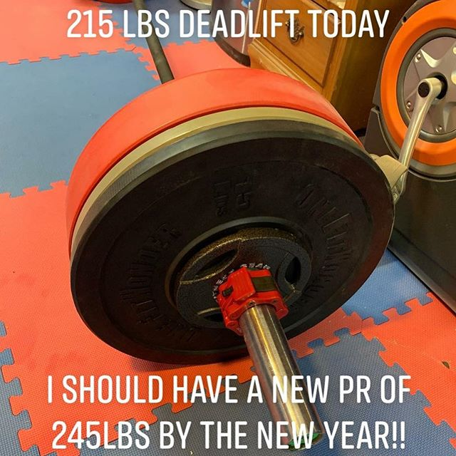 I am on track to beat my old Personal Record of 235lbs for the Deadlift. I am gunning for 245 lbs by Dec 28th, 2018! #workinprogress