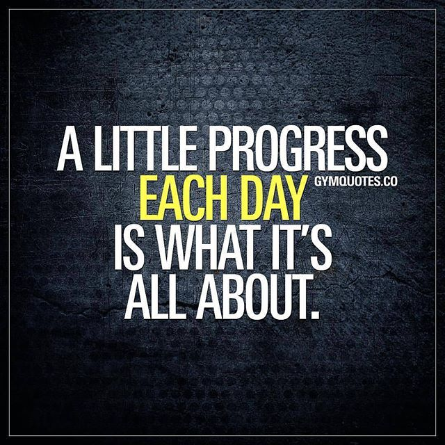 "Day 14: Daily Motivation It's Sunday, make the most of it. Keep the momentum going. Like I always say ""Progress is Progress"" 