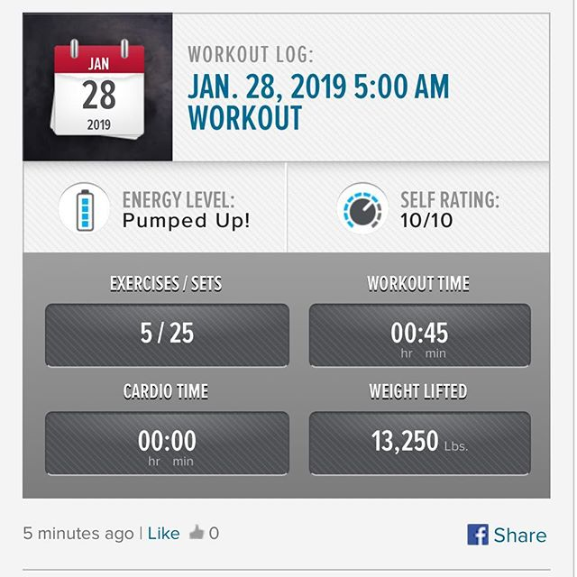 Started the week off by getting todays workout done this morning!!! #workinprogress l