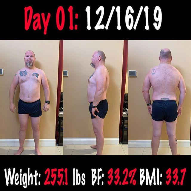 New starting point!!! Day 1 of 187. Its 187 days till my wife and I go on our anniversary cruise in June. I am really going to see how good of shape I can get into by then. Wish me luck!!! #workinprogress