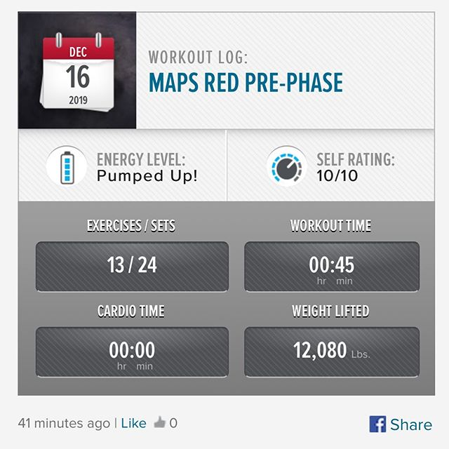 1st workout of the week and 1st workout of MAPS Anabolic (RED) from the boys at @mindpumpmedia. I have done this program once before all the way through. Looking forward to going back thru this program before I transition into maybe MAPS Powerlift or MAPS Strong as I continue on my fitness journey. #workinprogress