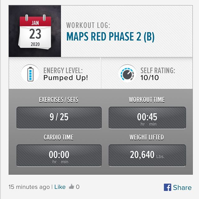 Last workout of the week and last workout of MAPS Red Pre-Phase is done! On to Phase 1 Monday! #workinprogress