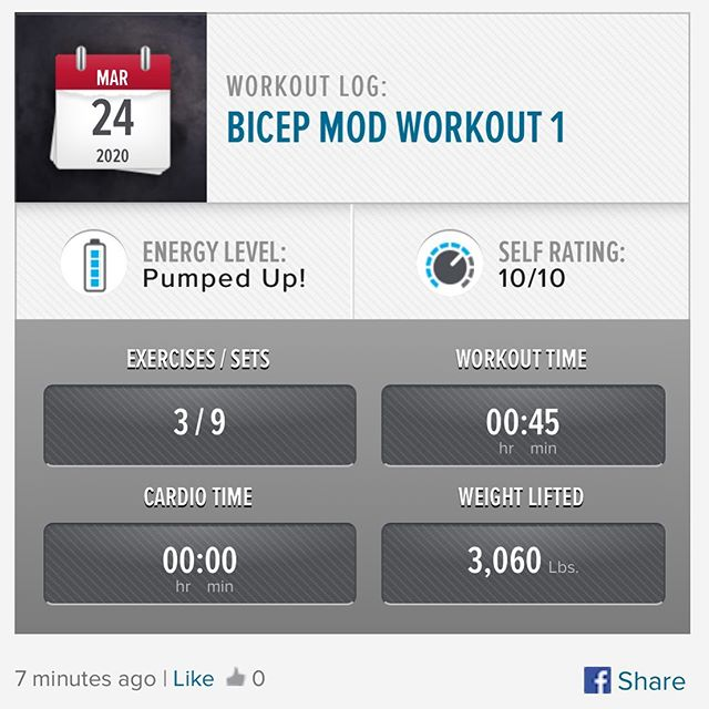 Another day, Another workout! MAPS Bicep Mod Workout 1 #workinprogress