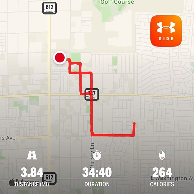 Another try at the bike today. This time a different bike, still a little rough but I did go farther today. I might just stick to walking for my cardio though. #workinprogress